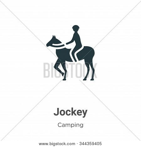 Jockey icon isolated on white background from camping collection. Jockey icon trendy and modern Jock