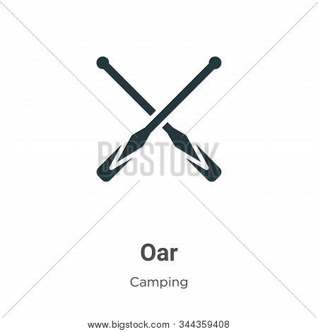 Oar Vector Icon On White Background. Flat Vector Oar Icon Symbol Sign From Modern Camping Collection