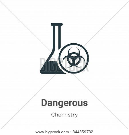 Dangerous icon isolated on white background from chemistry collection. Dangerous icon trendy and mod