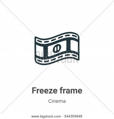 Freeze frame icon isolated on white background from cinema collection. Freeze frame icon trendy and