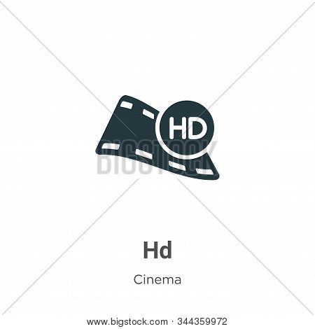 Hd Vector Icon On White Background. Flat Vector Hd Icon Symbol Sign From Modern Cinema Collection Fo