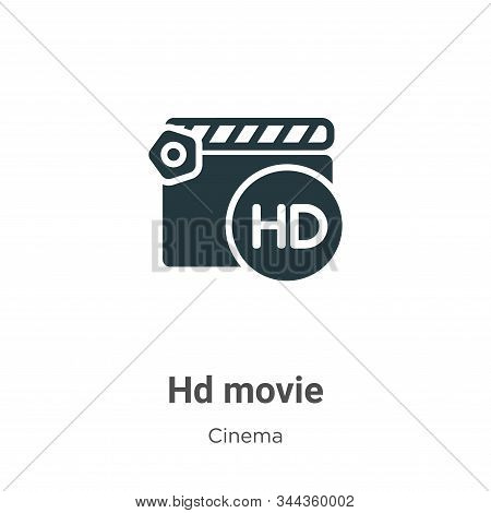 Hd movie icon isolated on white background from cinema collection. Hd movie icon trendy and modern H