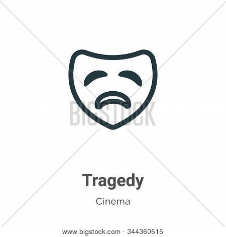 Tragedy icon isolated on white background from cinema collection. Tragedy icon trendy and modern Tra