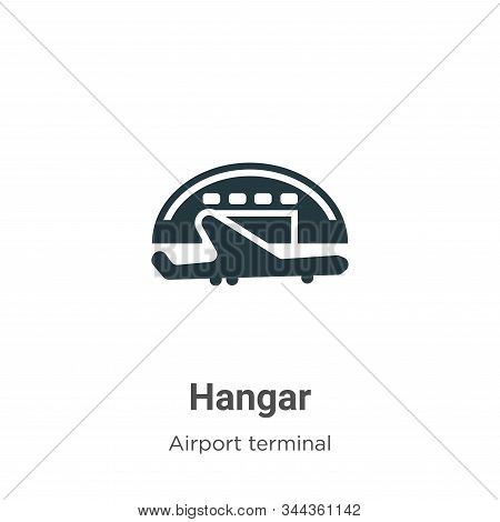 Hangar icon isolated on white background from airport terminal collection. Hangar icon trendy and mo