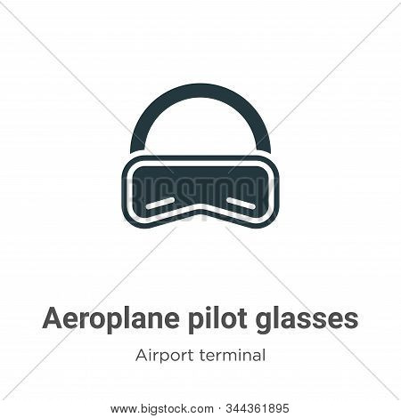 Aeroplane pilot glasses icon isolated on white background from airport terminal collection. Aeroplan