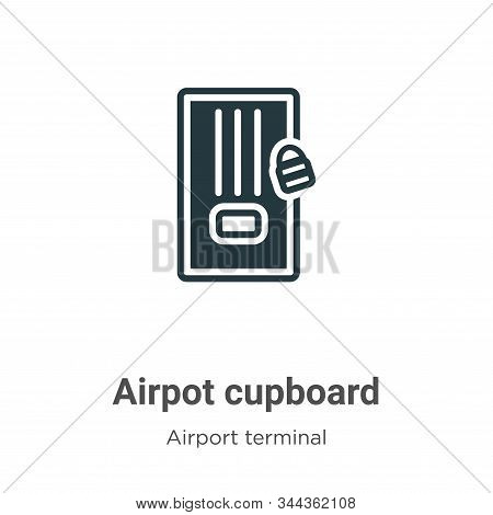 Airpot Cupboard Vector Icon On White Background. Flat Vector Airpot Cupboard Icon Symbol Sign From M