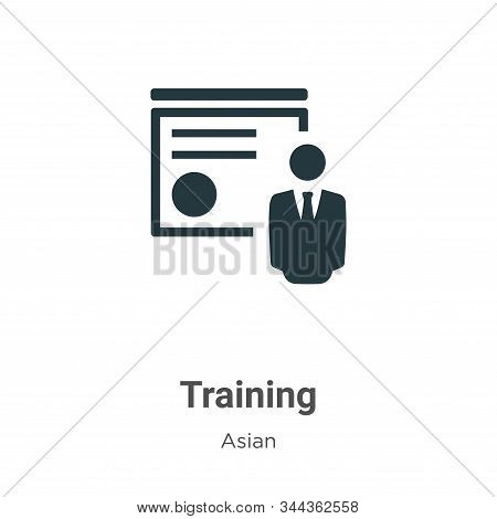 Training icon isolated on white background from asian collection. Training icon trendy and modern Tr