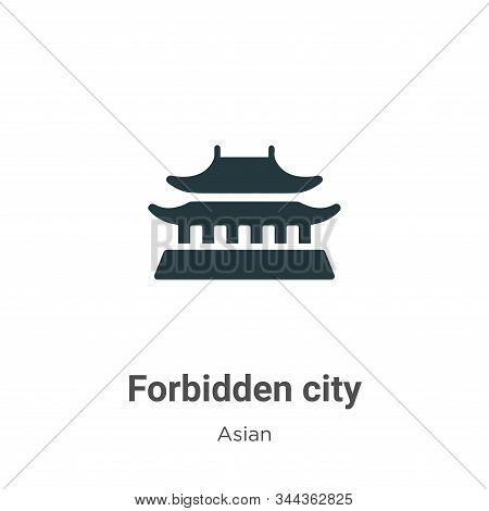 Forbidden city icon isolated on white background from asian collection. Forbidden city icon trendy a