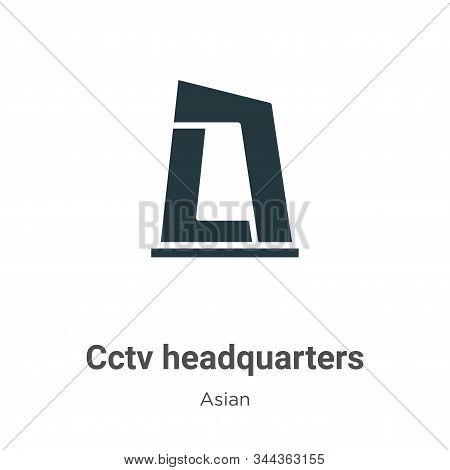 Cctv headquarters icon isolated on white background from asian collection. Cctv headquarters icon tr