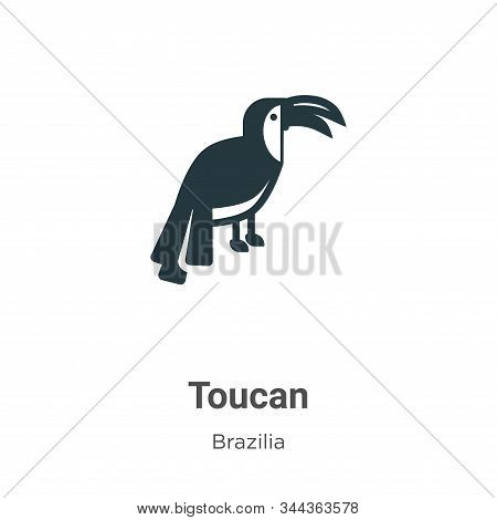 Toucan icon isolated on white background from brazilia collection. Toucan icon trendy and modern Tou