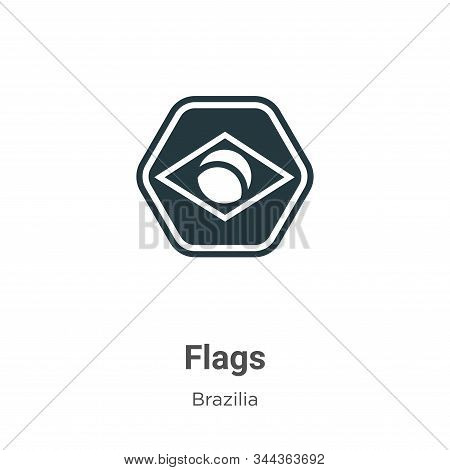 Flags icon isolated on white background from brazilia collection. Flags icon trendy and modern Flags