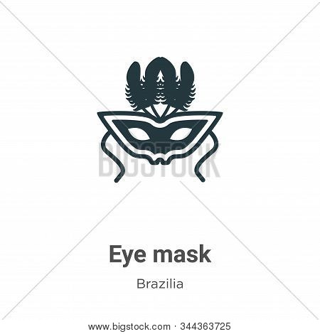 Eye mask icon isolated on white background from brazilia collection. Eye mask icon trendy and modern