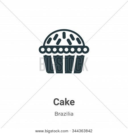 Cake icon isolated on white background from brazilia collection. Cake icon trendy and modern Cake sy