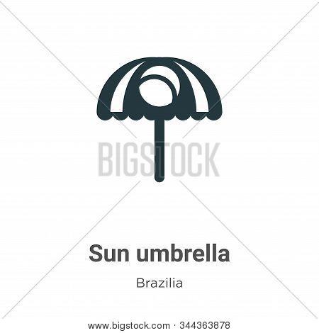 Sun umbrella icon isolated on white background from brazilia collection. Sun umbrella icon trendy an