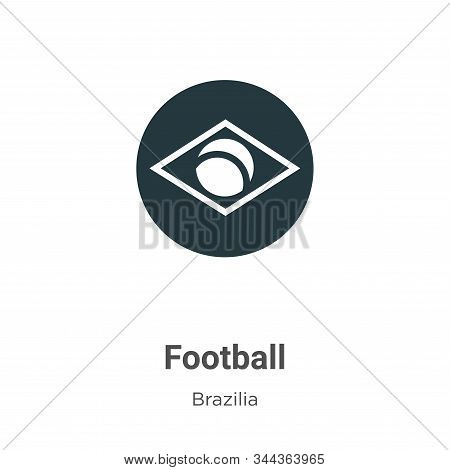 Football icon isolated on white background from brazilia collection. Football icon trendy and modern