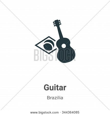 Guitar icon isolated on white background from brazilia collection. Guitar icon trendy and modern Gui