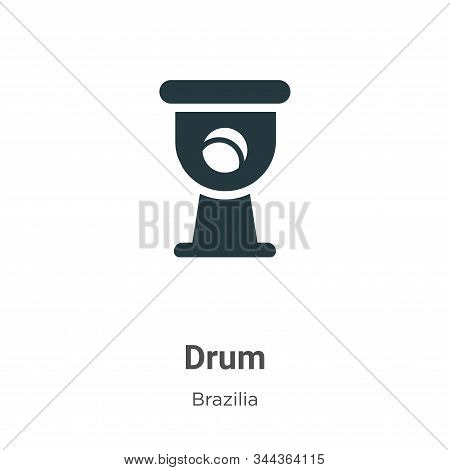 Drum icon isolated on white background from brazilia collection. Drum icon trendy and modern Drum sy