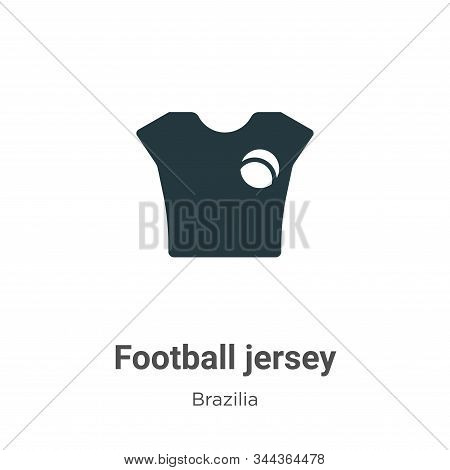 Football jersey icon isolated on white background from brazilia collection. Football jersey icon tre