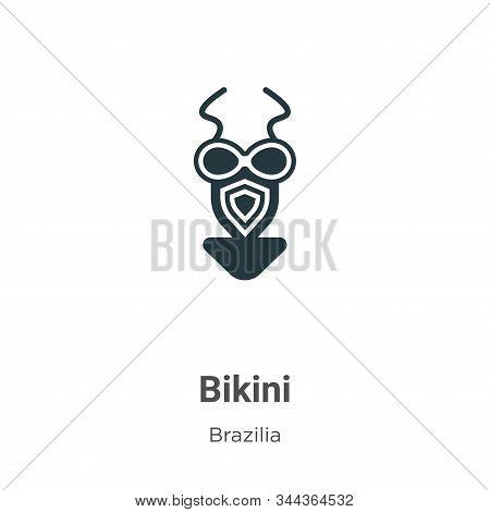 Bikini Vector Icon On White Background. Flat Vector Bikini Icon Symbol Sign From Modern Brazilia Col