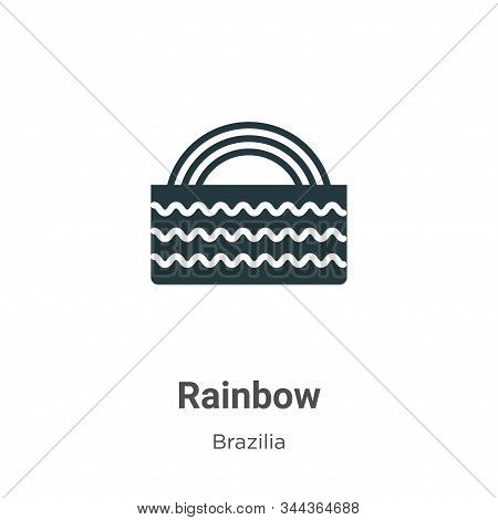 Rainbow icon isolated on white background from brazilia collection. Rainbow icon trendy and modern R