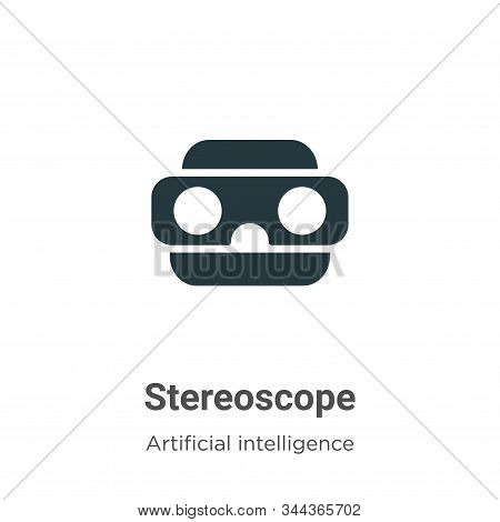 Stereoscope icon isolated on white background from augmented reality collection. Stereoscope icon tr