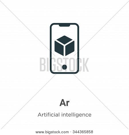 Ar icon isolated on white background from augmented reality collection. Ar icon trendy and modern Ar