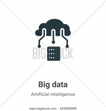 Big data icon isolated on white background from big data collection. Big data icon trendy and modern