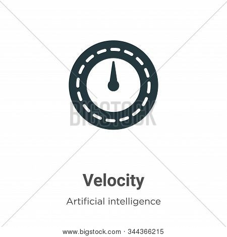 Velocity icon isolated on white background from big data collection. Velocity icon trendy and modern