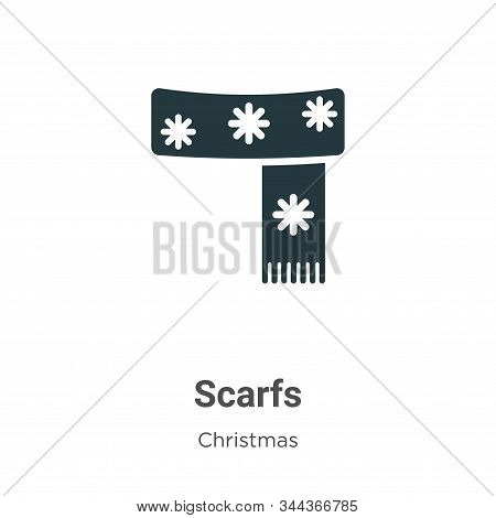 Scarfs Vector Icon On White Background. Flat Vector Scarfs Icon Symbol Sign From Modern Christmas Co