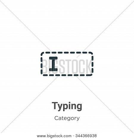 Typing icon isolated on white background from cursor collection. Typing icon trendy and modern Typin