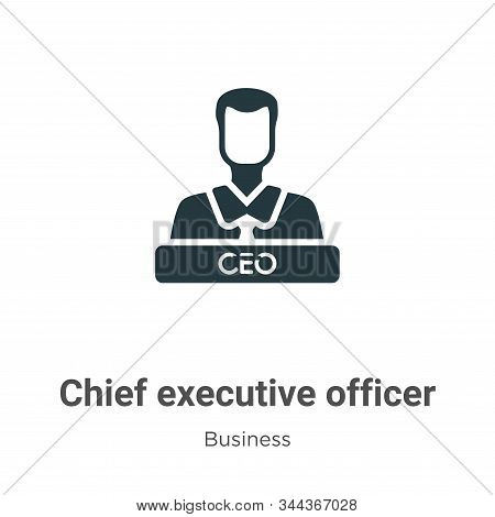 Chief executive officer icon isolated on white background from business collection. Chief executive