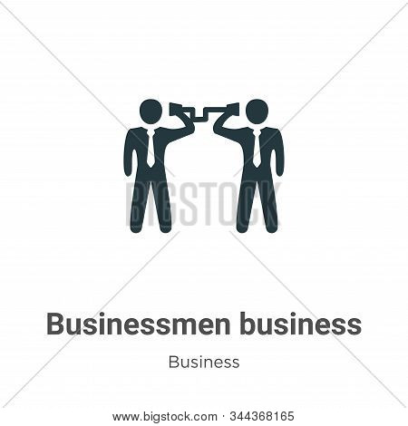 Businessmen Business Communication Techniques Vector Icon On White Background. Flat Vector Businessm