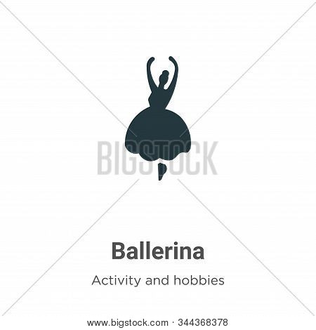 Ballerina icon isolated on white background from activity and hobbies collection. Ballerina icon tre