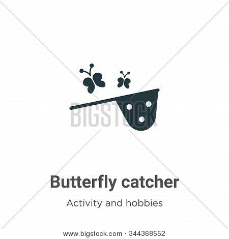 Butterfly Catcher Vector Icon On White Background. Flat Vector Butterfly Catcher Icon Symbol Sign Fr