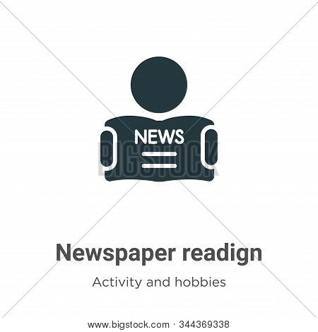 Newspaper readign icon isolated on white background from activity and hobbies collection. Newspaper
