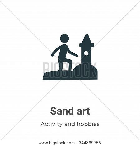 Sand art icon isolated on white background from activity and hobbies collection. Sand art icon trend