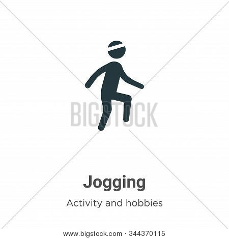 Jogging Vector Icon On White Background. Flat Vector Jogging Icon Symbol Sign From Modern Activities