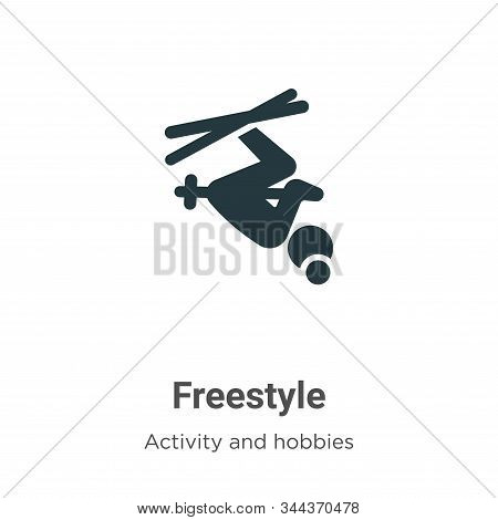 Freestyle Vector Icon On White Background. Flat Vector Freestyle Icon Symbol Sign From Modern Activi