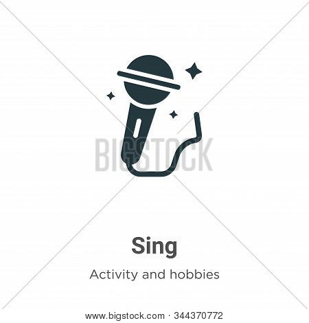 Sing icon isolated on white background from outdoor activities collection. Sing icon trendy and mode