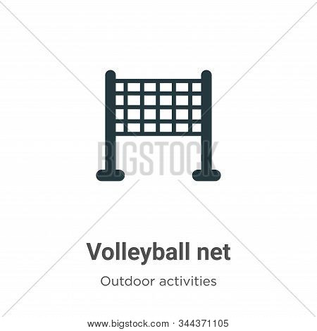 Volleyball net icon isolated on white background from outdoor activities collection. Volleyball net