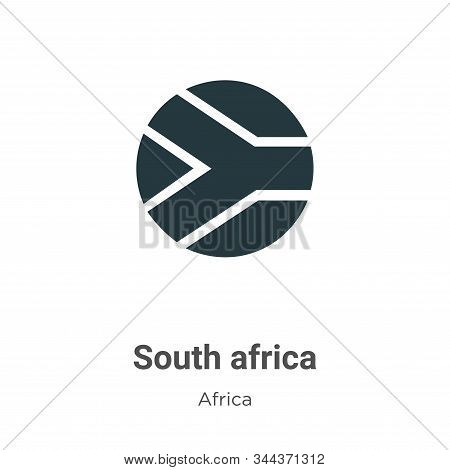 South Africa Vector Icon On White Background. Flat Vector South Africa Icon Symbol Sign From Modern