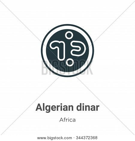 Algerian dinar icon isolated on white background from africa collection. Algerian dinar icon trendy