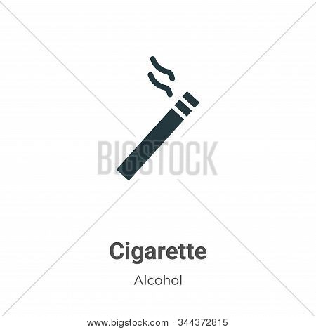 Cigarette icon isolated on white background from alcohol collection. Cigarette icon trendy and moder