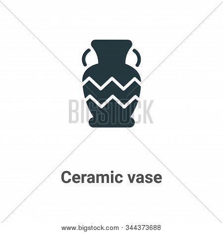 Ceramic vase icon isolated on white background from art collection. Ceramic vase icon trendy and mod