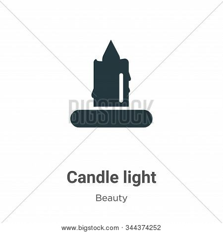 Candle light icon isolated on white background from beauty collection. Candle light icon trendy and
