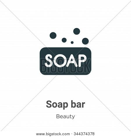Soap bar icon isolated on white background from beauty collection. Soap bar icon trendy and modern S