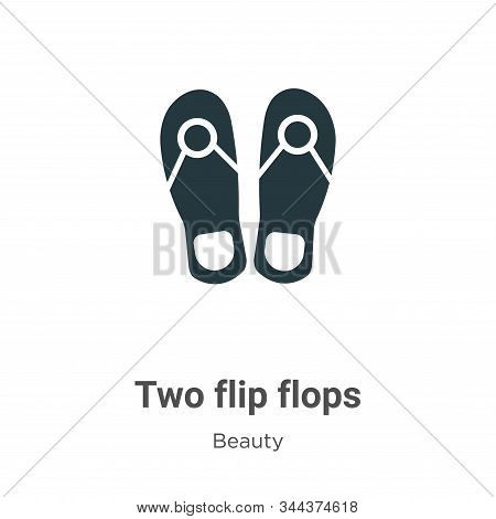 Two flip flops icon isolated on white background from beauty collection. Two flip flops icon trendy