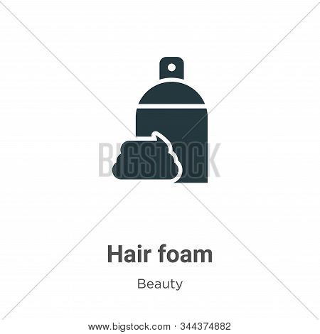 Hair foam icon isolated on white background from beauty collection. Hair foam icon trendy and modern