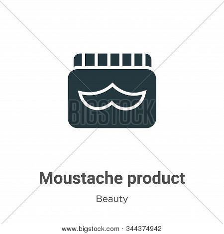 Moustache product icon isolated on white background from beauty collection. Moustache product icon t