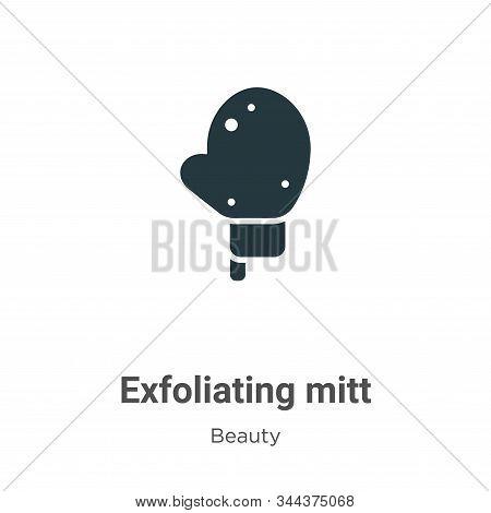 Exfoliating Mitt Vector Icon On White Background. Flat Vector Exfoliating Mitt Icon Symbol Sign From